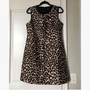 J crew leopard mini dress